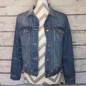 Madewell Denim Jean Jacket Distressed Size Small